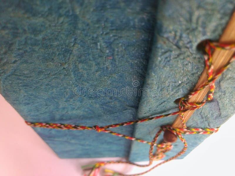 Um livro Handcrafted velho imagens de stock royalty free