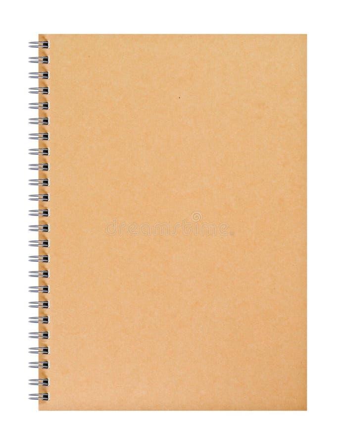 Um livro marrom em branco da tampa imagens de stock royalty free
