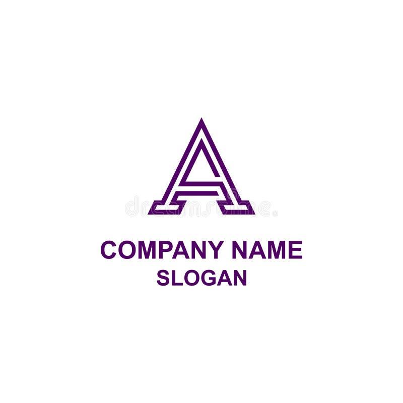 Um logotipo da inicial da letra ilustração stock