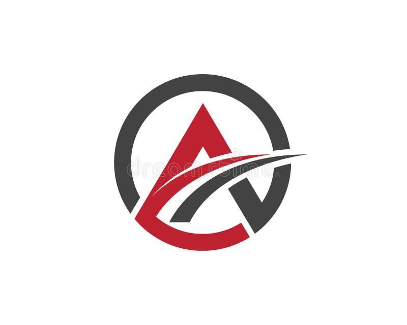 Um logotipo da letra ilustração stock