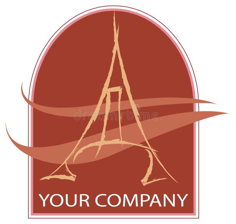 Um logotipo de Eiffel ilustração stock