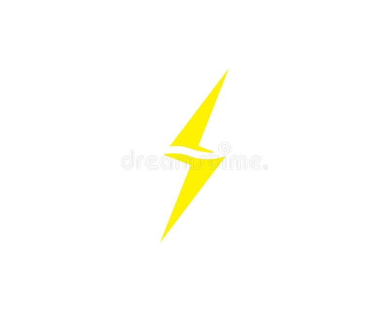 Um logotipo do rel?mpago da letra ilustração stock