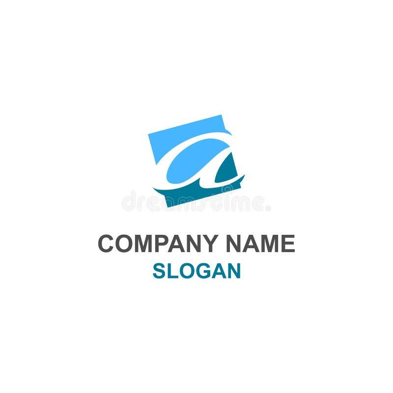Um logotipo inicial lowercase da letra ilustração royalty free