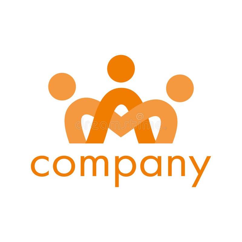 Um logotipo para a empresa, a sociedade, a fundação ou a unidade ilustração stock