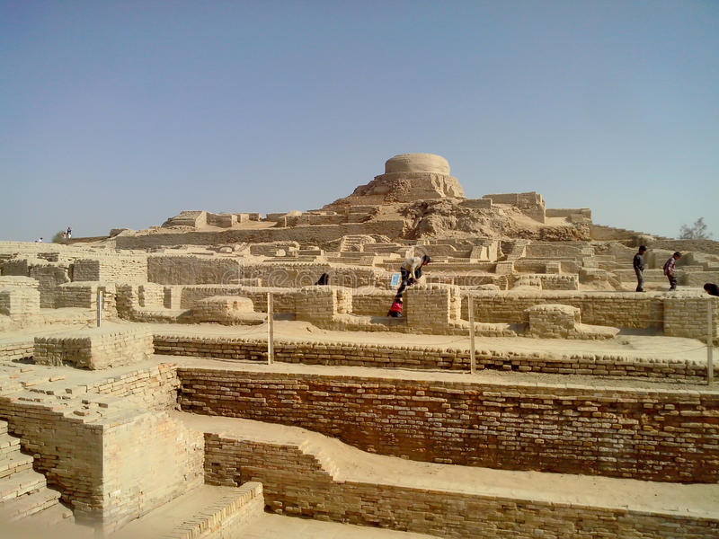 Um lugar do daro de Mohenjo fotografia de stock royalty free