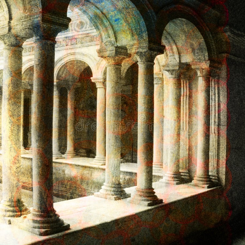 Um lugar em Roma ilustração do vetor