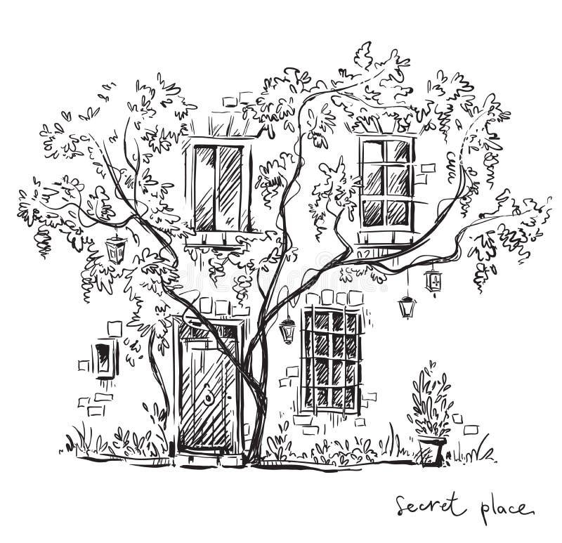 Um lugar secreto Ilustração do vetor ilustração royalty free
