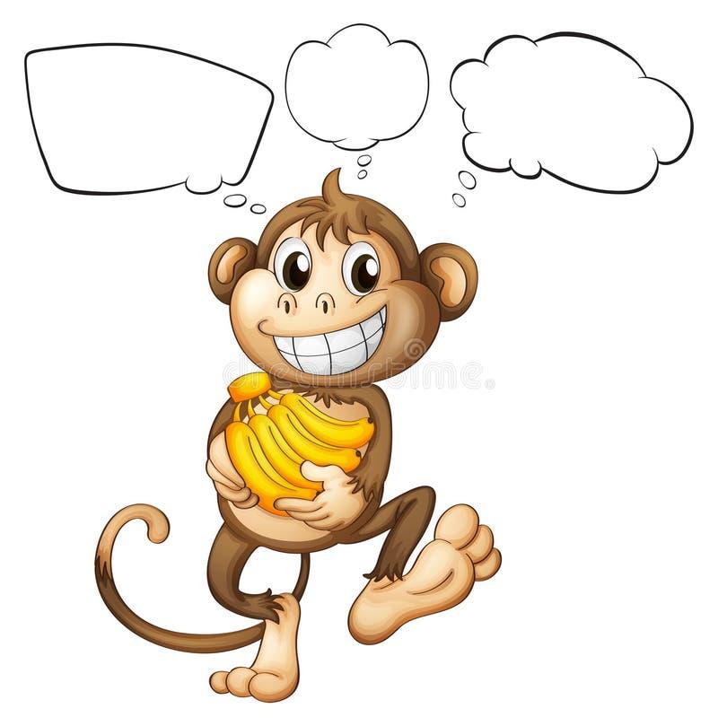 Um macaco com bananas ilustração do vetor