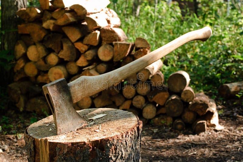 Um machado fotografia de stock royalty free