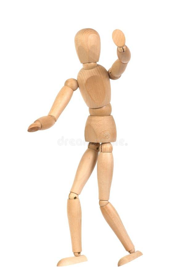 Um mannequin de madeira gesticulate fotografia de stock