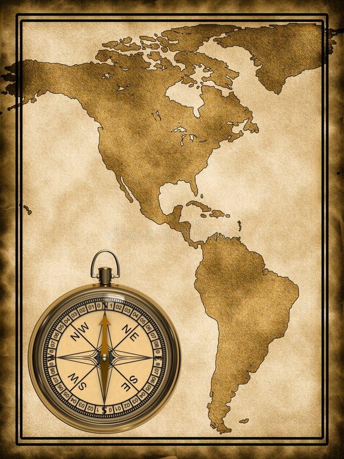 Um mapa de América ilustração royalty free