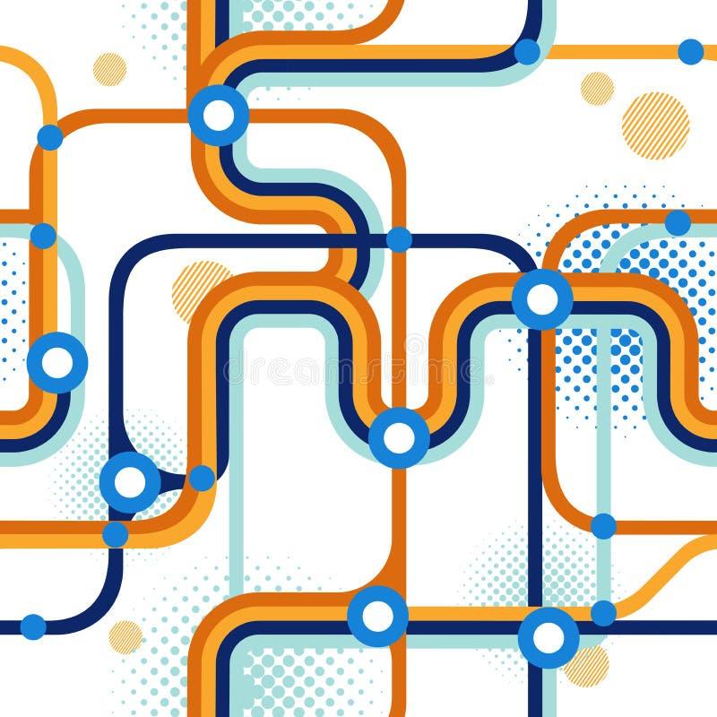 Um mapa do metro ilustração royalty free