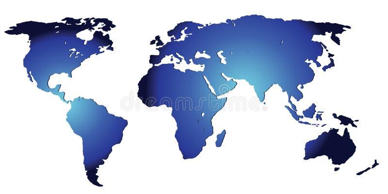 Um mapa do mundo ilustração royalty free