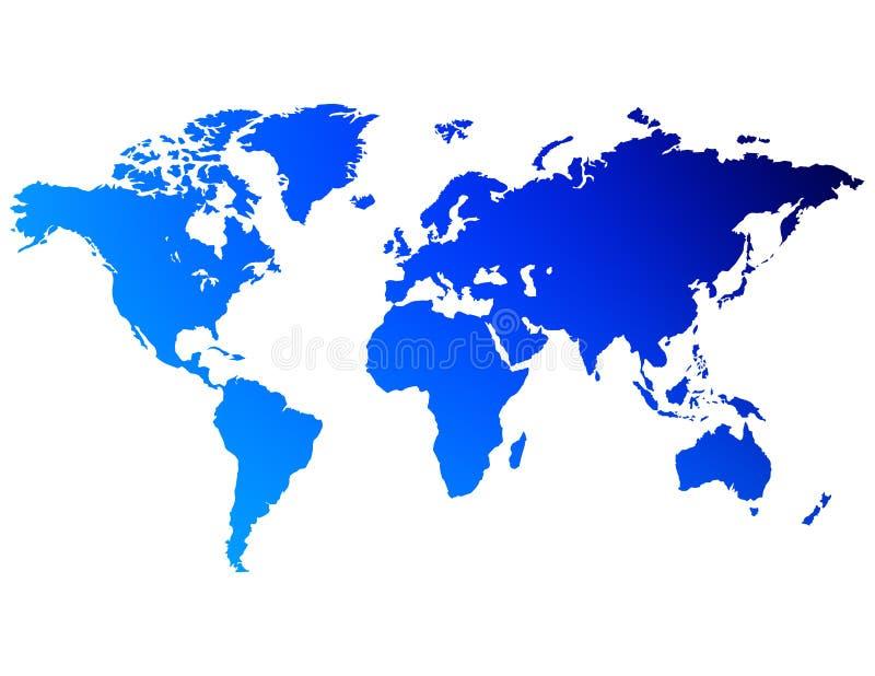 Um mapa do mundo ilustração do vetor