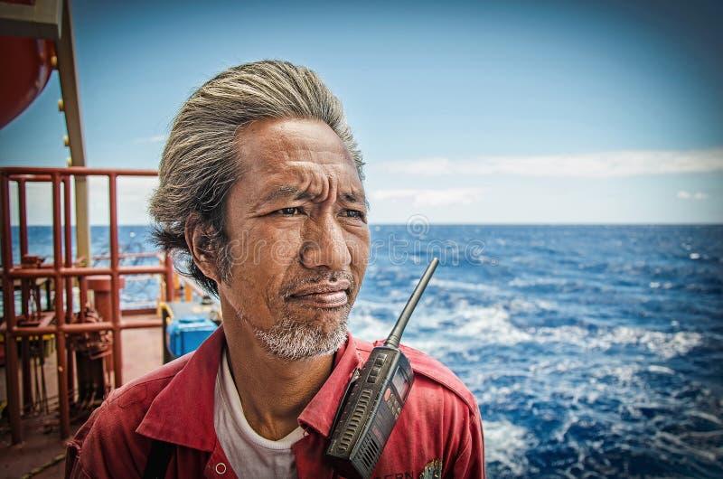 Um marinheiro filipino idoso fotografia de stock royalty free