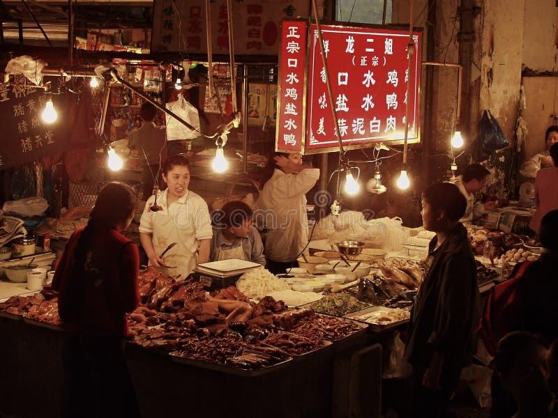 Um meatcutter chinês fotografia de stock