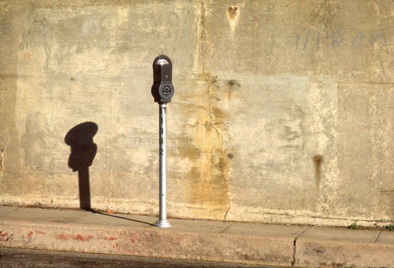 Um medidor de estacionamento fotos de stock royalty free