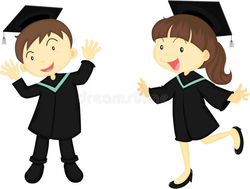 Um menino e uma menina educados ilustração stock