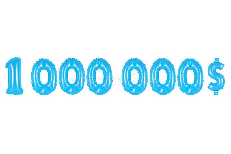 Um milhão de dólares, cor azul fotos de stock