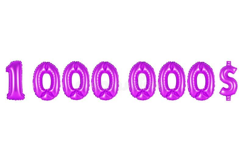 Um milhão de dólares, cor roxa imagens de stock royalty free