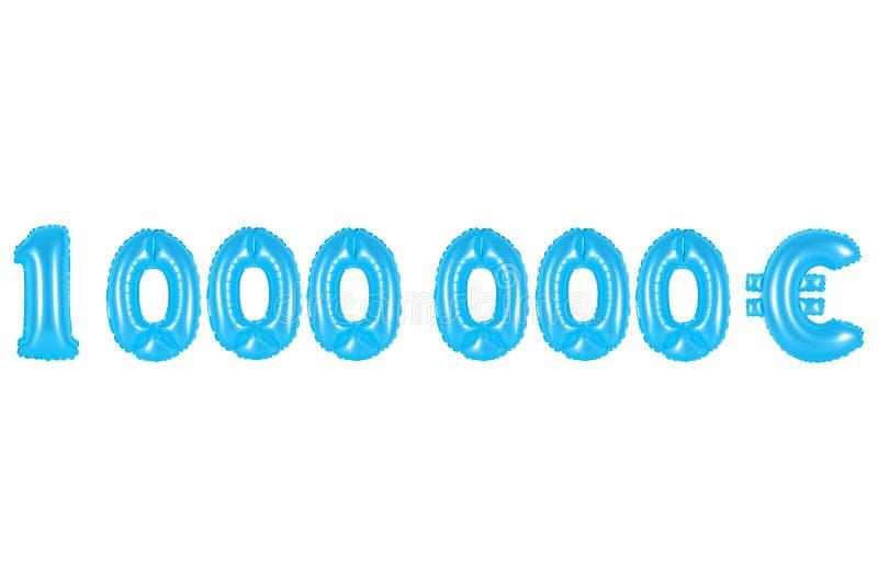 Um milhão de euro, cor azul imagem de stock royalty free