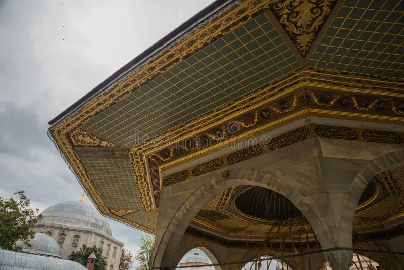 Um miradouro bonito em torno de Hagia Sophia, basílica patriarcal cristã, mesquita imperial e agora um museu Istambul, Turquia imagens de stock