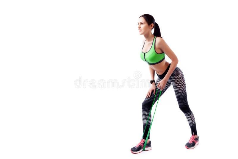 Um modelo da mulher do esporte fotos de stock