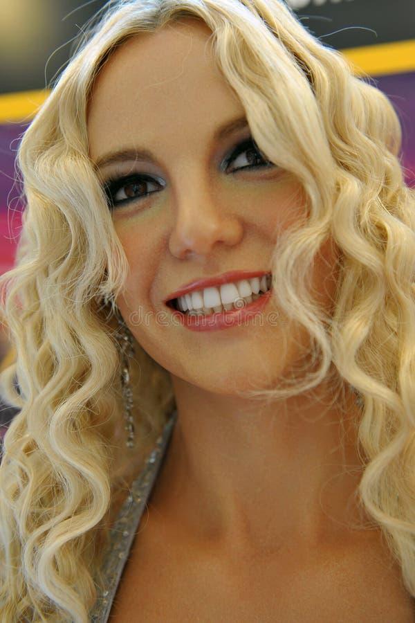 Um modelo de cera de Britney Spears fotos de stock