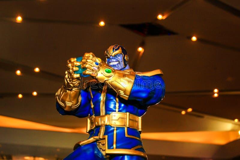 Um modelo do caráter Thanos dos filmes e da banda desenhada fotografia de stock