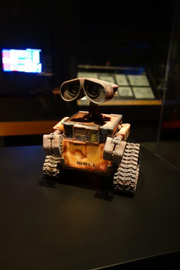 Um modelo do robô em um filme fotografia de stock