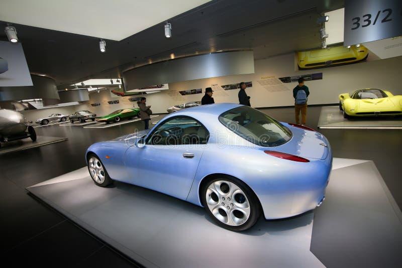 Um modelo magnífico de Romeo Nuvola Concept do alfa na exposição no museu histórico Alfa Romeo imagem de stock royalty free