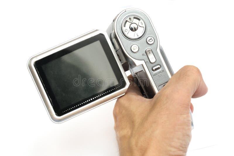 Um modelo mais velho de uma came acessível realizada na mão imagem de stock