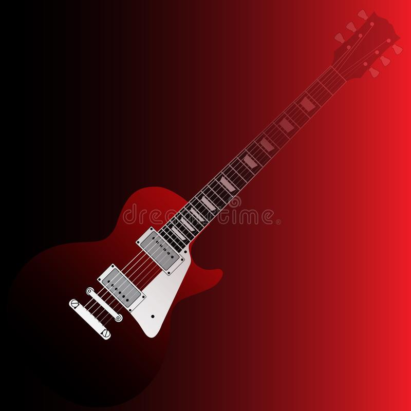 Um molde abstrato do musical da guitarra ilustração royalty free