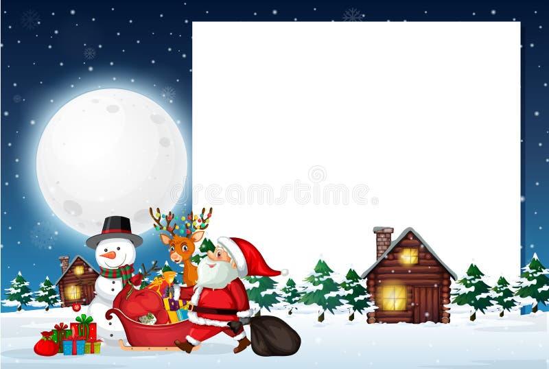 Um molde da nota do Natal ilustração do vetor