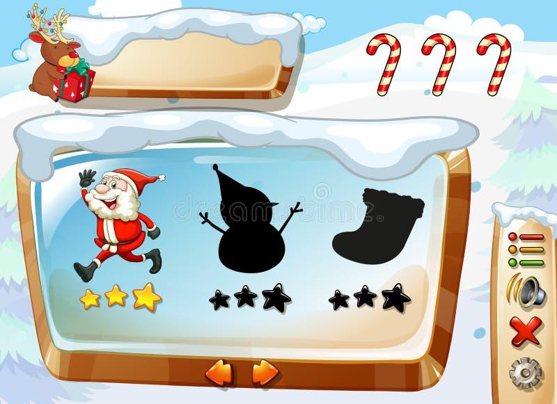 Um molde do jogo do Natal ilustração stock