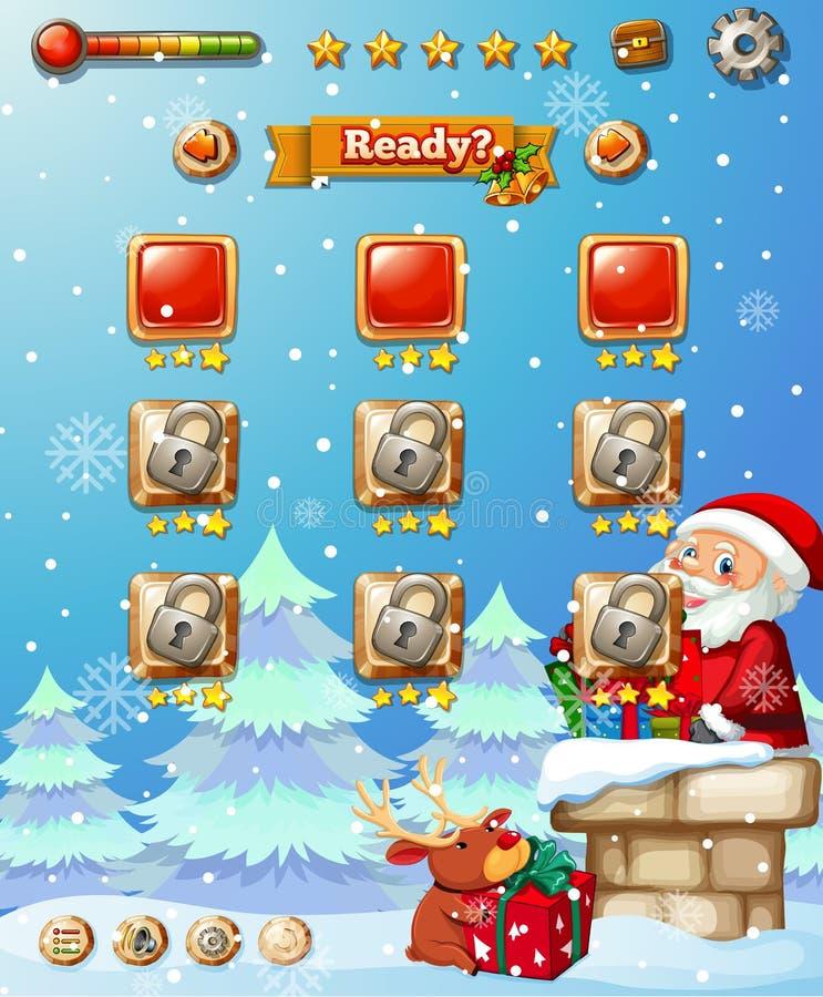 Um molde do jogo do Natal ilustração royalty free