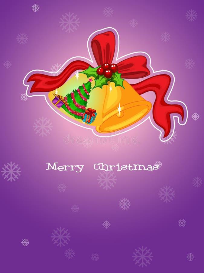 Um molde do Natal com um fundo roxo ilustração royalty free