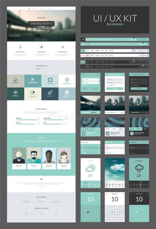 Um molde do projeto do Web site da página ilustração stock