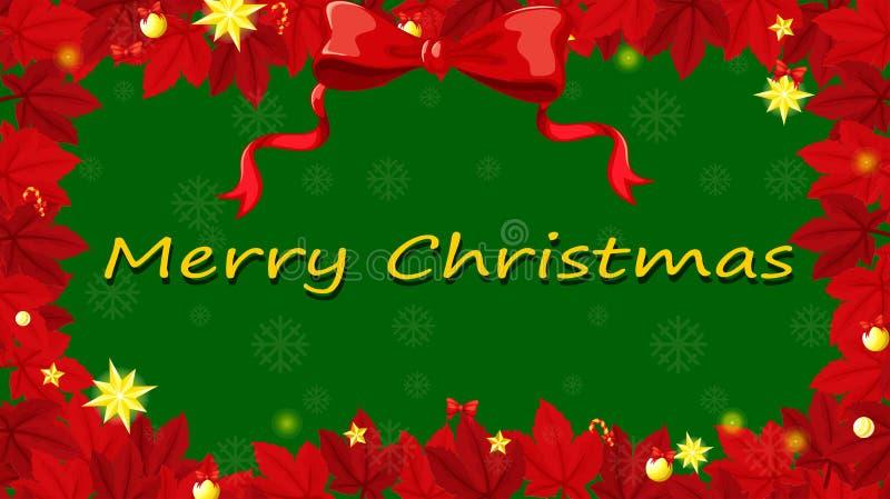 Um molde vermelho e verde do cartão de Natal ilustração royalty free