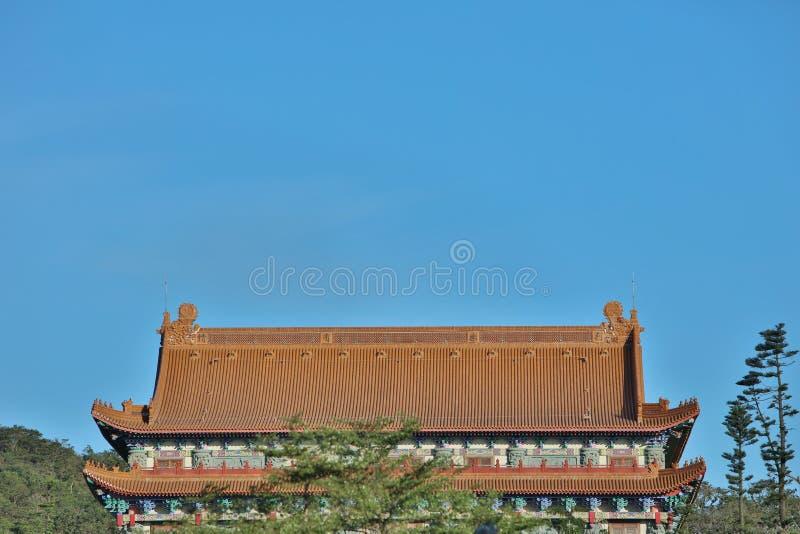 um monastério do Po Lin na ilha de Lantau fotos de stock