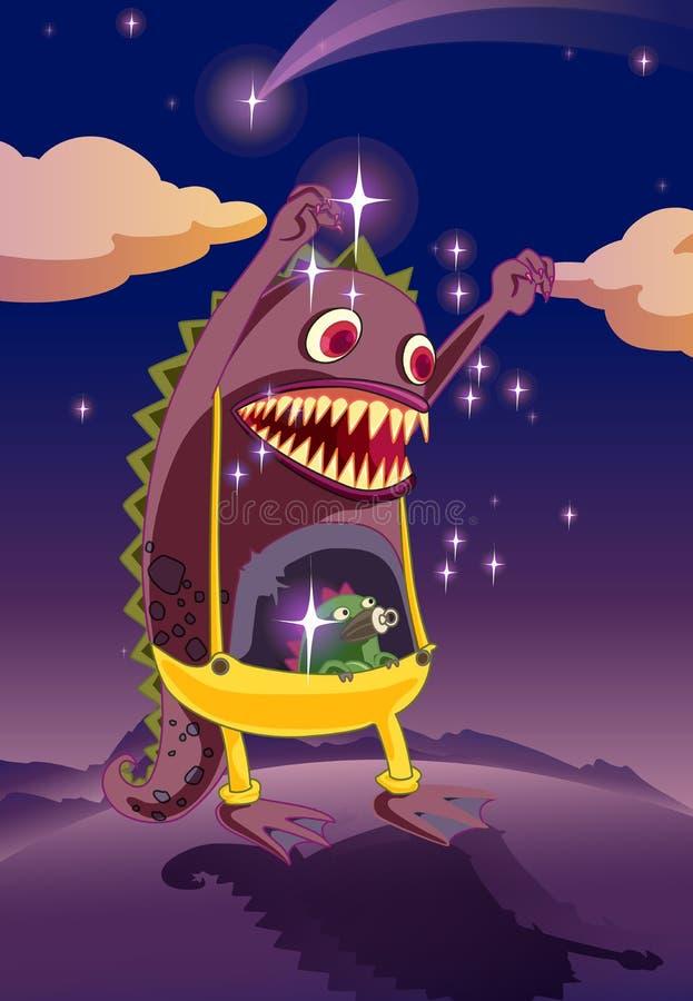 Um monstro assustador ilustração royalty free