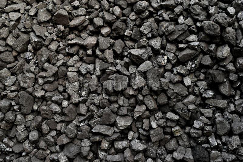 Um montão do fundo natural preto de carvão foto de stock royalty free