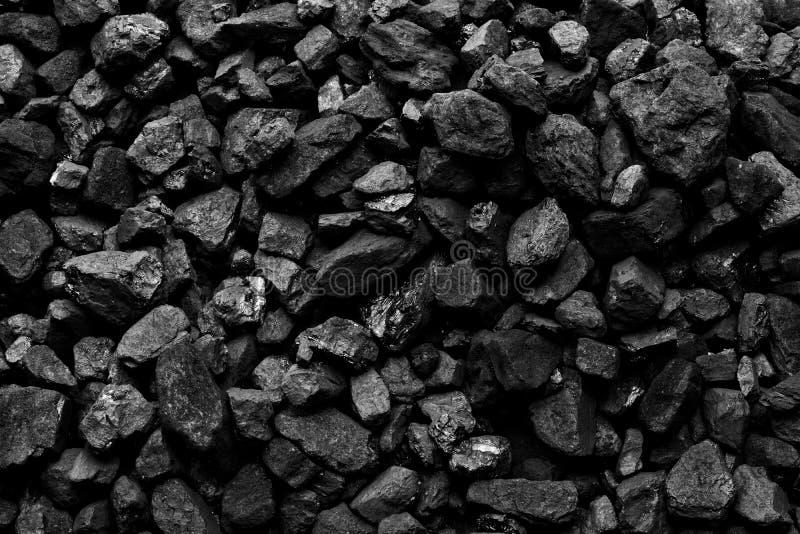 Um montão do fundo natural preto de carvão foto de stock