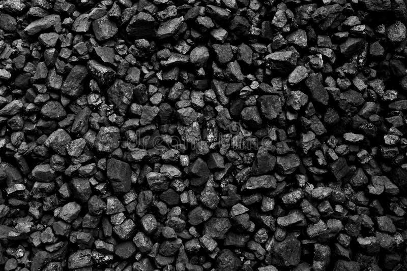 Um montão do fundo natural preto de carvão imagens de stock