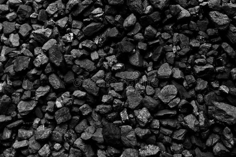 Um montão do fundo natural preto de carvão imagem de stock royalty free