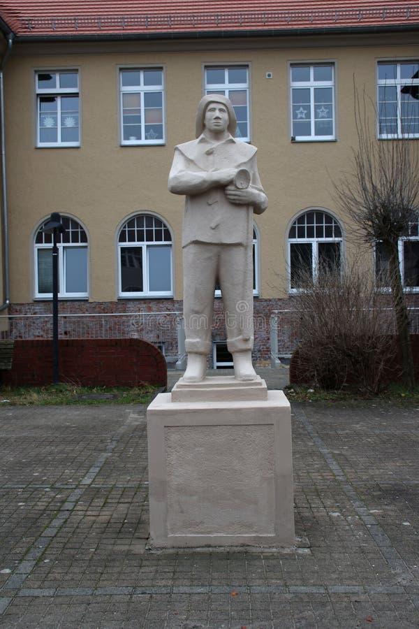 Um monumento do mineiro em Leste Alemão fotografia de stock royalty free