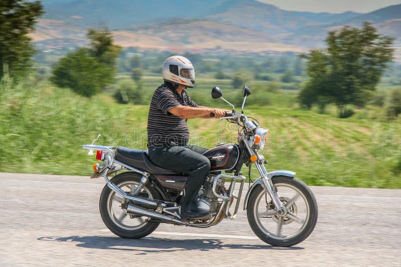 Um motociclista turco só fotos de stock