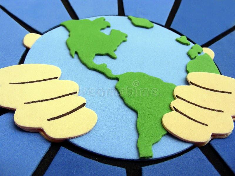 Download Um mundo imagem de stock. Imagem de brotherhood, terra - 538369