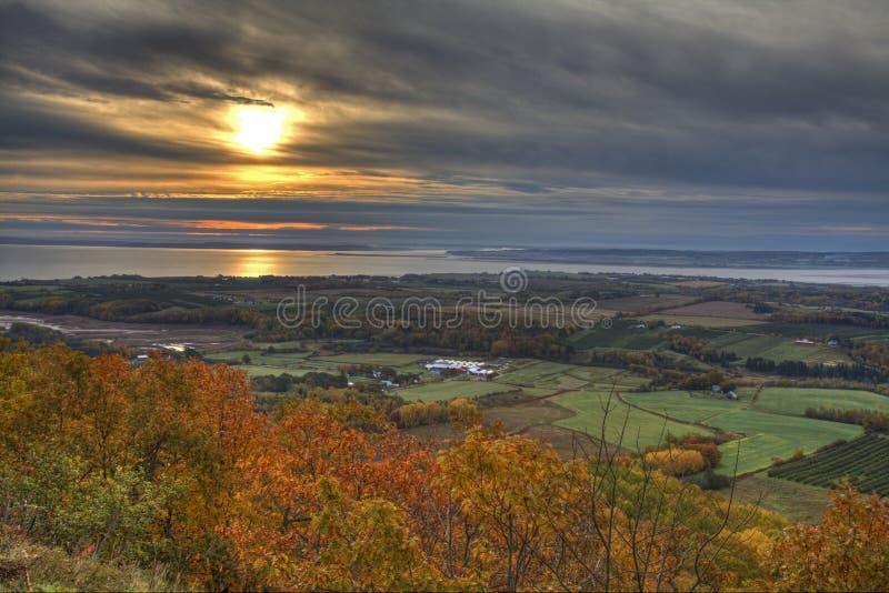 Um nascer do sol de Autumn Lookoff foto de stock royalty free