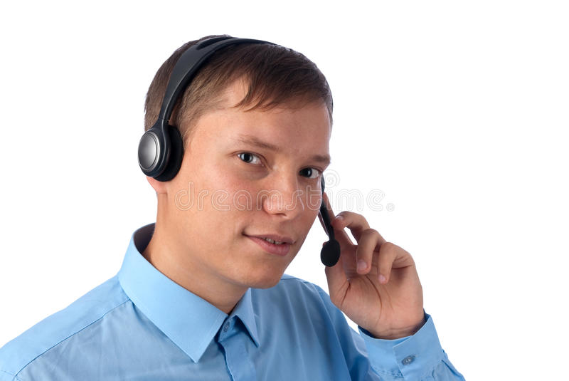 Um operador de telefone amigável fotografia de stock royalty free